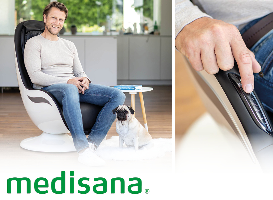 medisana Gutschein Massage und stylisches Wohnaccessoire in Einem