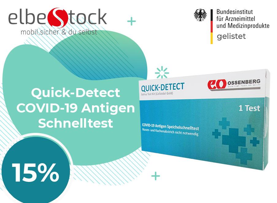 Quick-Detect ® COVID-19 Antigen Speichel-Schnelltest Covid Coupon