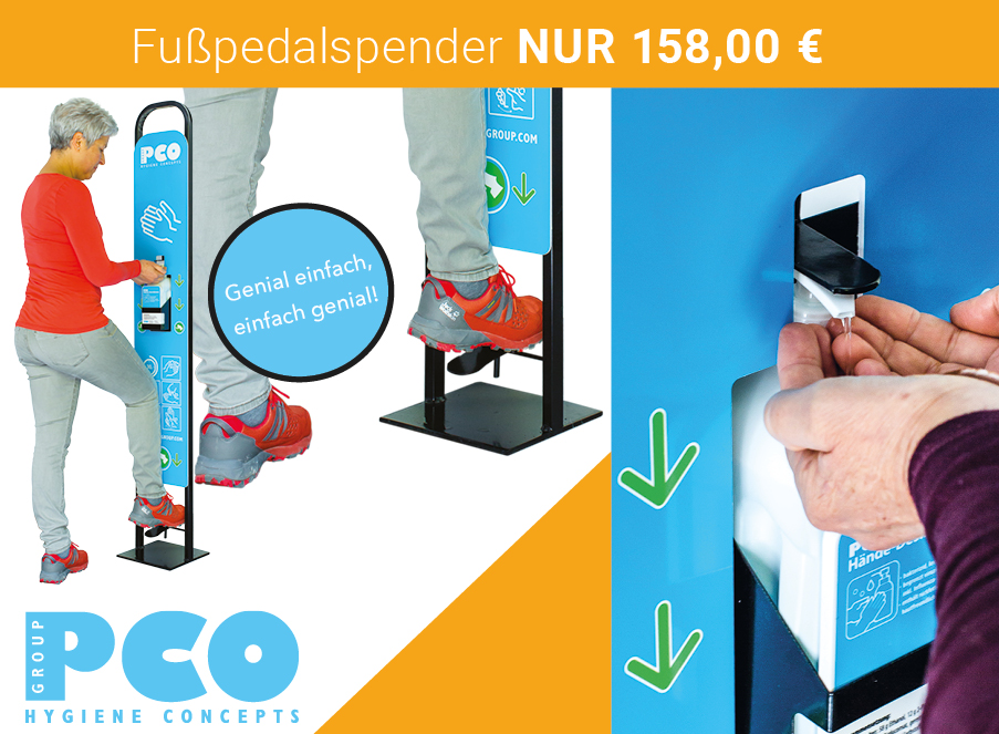 Fußpedalspender PCO Coupon