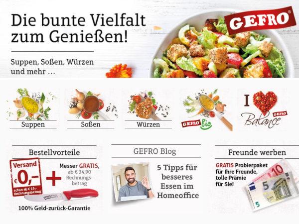Gefro Rabatt coupon