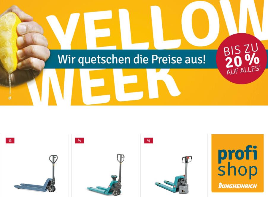 Jungheinrich profi shop Rabatt Coupon