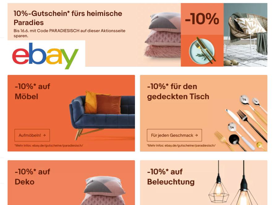 Rabatt Coupon ebay