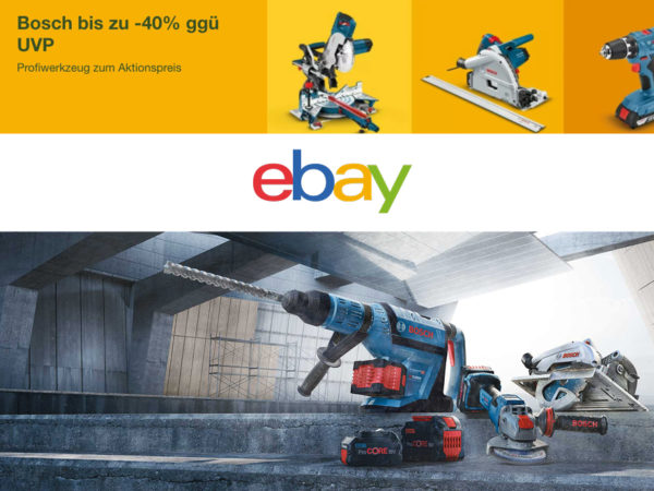 ebay Bosch Rabatt Coupon